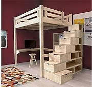 hochbetten hochbett holz g nstig online kaufen bis zu 53. Black Bedroom Furniture Sets. Home Design Ideas