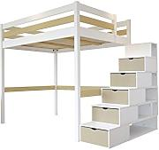 hochbett mit treppe g nstig online kaufen lionshome. Black Bedroom Furniture Sets. Home Design Ideas