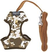 DealMux Hunde Accessoires Camouflage Tuch Bell-Entwurf Breathable Harness Vest Leine Größe M
