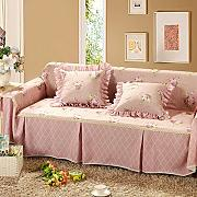 JY$ZB Rutschfeste Sofaabdeckung Sofa-Kombination Handtuch Single / Two / Three / Vier-Sitz Rosa Plain Couch Cover , 215*350Sofa Cover