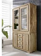 Massivmoebel24 Sheesham Möbel Highboard Palisander Holz massiv NATURE BROWN #858