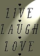 "Schablone ""Live, Laugh, Love"", Rustikal, Vintage, A4, 297 x 210 mm, Wand, Möbel"