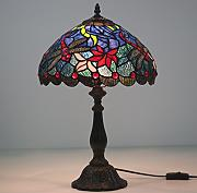 "12 ""Rote Libelle Tiffany Lampe"