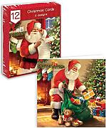 12 Christmas Greetings Karten Santa Design
