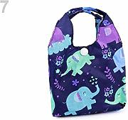 1pc Blau Dunkel Elefant Faltbar Shopping Bag