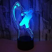 3D Baseball Optical Illusions LED Lampen Tolle 7