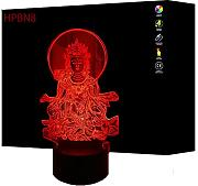 3D Buddha Optical Illusions LED Lampen Tolle 7