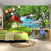3D Foto Wallpaper für Kinderzimmer Cartoon