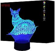 3D Fuchs Illusions LED Lampen Tolle 7 Farbwechsel