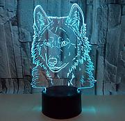 3D Illusion Lampe Led Nachtlicht Clock Tower