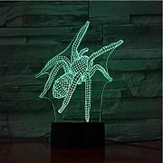 3d lampe illusion lampe 3d spinne insekt