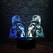 3D LED Lampe 7 Mixed Double Color Boy Room Decor