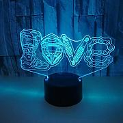 3D Liebe Optical Illusions LED Lampen Tolle 7