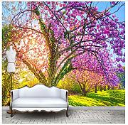 3D Mural Custom Photo Wallpaper 3D Cherry Blossom