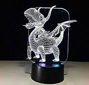 3D Nachtlicht Illusion Lampe Lampe 7 Farbe Monster