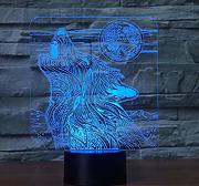 3D Optical Illusion Lampe Led Nachtlicht Howling
