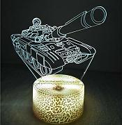 3D Panzer Optical Illusions LED Lampen Tolle 7