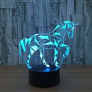 3D Pferd Optical Illusions LED Lampen Tolle 7