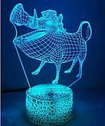 3D Schweine Optical Illusions LED Lampen Tolle 7