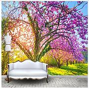 3D Wallpaper Fresco Silk Cloth Collage