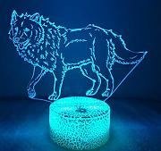 3D Wolf Optical Illusions LED Lampen Tolle 7