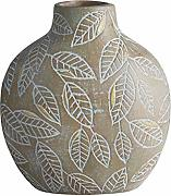 47th & Main Terra Cotta Embossed Decorative Vase,