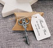50pcs Wedding Favors Candy Box w/ Antique Skeleton Key Bottle Openers Escort Card Thank You Tag Pillow Box (Key Style #11) by DLWedding