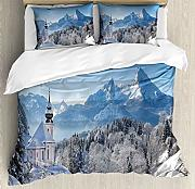 ABAKUHAUS Winter Bettbezug Set Doppelbett, Bavaran