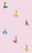 AG Design WPD 9734 Disney Princess, Vlies-Tapete, 1 Rolle, mehrfarbig, 0,1 x 53 x 10,05 cm