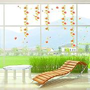 Ambiance-Live Wandtattoo Autumn flowers wall decal