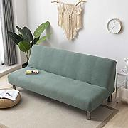 Armless Futon Cover Stretch Sofa Schonbezug,