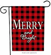 Artofy Merry & Bright Weihnachts-Flagge,