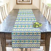Artzfolio Hand Drawn Design D5 Table Runner Silk