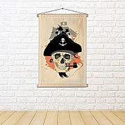 ArtzFolio Pirate Design with Ghost Skull Canvas