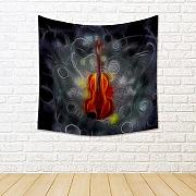 ArtzFolio Violin Design Satin Tapestry Wall