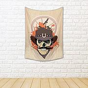ArtzFolio West Design with Cowboy Skull Canvas