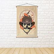 ArtzFolio West Design with Cowboy Skull Satin