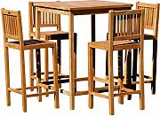 ASS XL BAR-Set - Teak Bartisch Bistrotisch