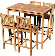 ASS XXL BAR-Set - Teak Bartisch Bistrotisch