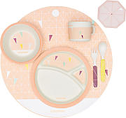 Bambus Geschirr Set, peach