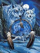 BBLIN Diamond PaintingWolf und Mond,Kreuz Stich