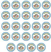 Beistle Oktoberfest Plates 24 Piece, Multicolored