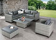 BEST 98896053 Loungegruppe 6-teilig Lounge-Set