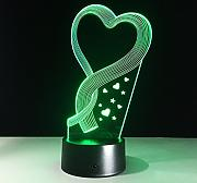 Best Mom'S Day Gift Heart Shape 3D Led Lamp