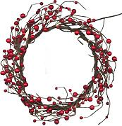 Best Season LED-Dekokranz Berry Wreath mit 16 warm