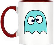 Blau Drunken Ghost Design bicolor Becher mit