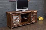 Buddha Art Lounge TV Lowboard, Massivholz,