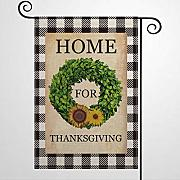 BYRON HOYLE Home for Thanksgiving Gartenflagge