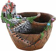 Cabilock Fairy Garden Miniatur Broken Flower Pot