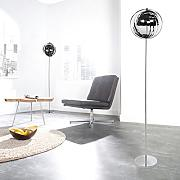 cagü: DESIGN RETRO LOUNGE STEHLAMPE [BOLA] CHROM